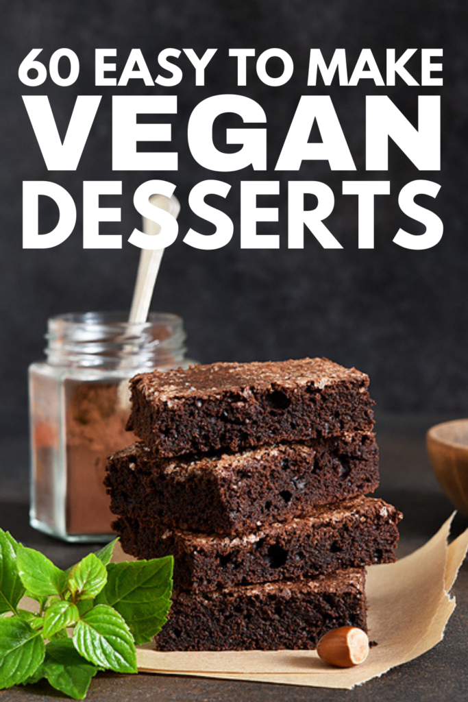 60 Easy Vegan Dessert Recipes | Whether you follow a strict vegan diet, or you're on the hunt for healthy desserts with healthy sugar substitutes, this post is exactly what you need! We've curated the best vegan desserts which are easy to make and oh-so-delicious! We've included a mix of options to support your weight loss goals, including sugar-free, keto, and low calorie dessert recipes. From no bake cookies to sugar free chocolate cake, these recipes won't disappoint!