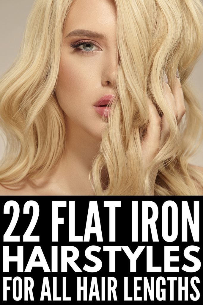 22 Flat Iron Hairstyles for All Hair Lengths | Whether you have short, medium, or long hair, this collection of quick and easy straightener hairstyles is for you! We've curated the best step-by-step hair tutorials for all hair types and lengths. If you want to know how to curl hair with a straightener and/or how to get beach waves with a flat iron, these hair videos will not disappoint. We've included lots of other cute and easy ideas, from soft waves to mermaid waves and more!