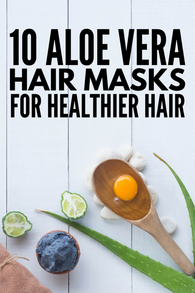 10 Aloe Vera Hair Masks | If you're looking for a deep conditioner for your hair, we're sharing our favorite DIY and store bought aloe vera masks! Whether you need help with hair growth, for dandruff, for dry scalp, for dry hair, for oily hair, for frizzy hair, or to prevent hair breakage, these hair masks will help. Using ingredients you already have on hand, like egg and coconut oil, honey and ACV, these homemade hair masks will make your locks look fresh, moisturized, and gorgeous!