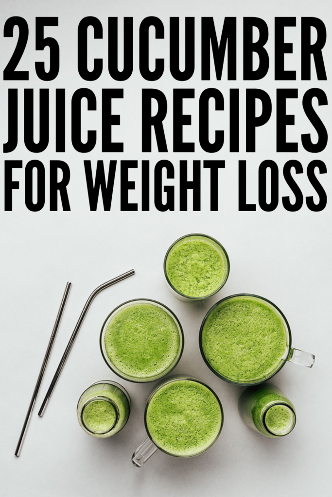 25 Cucumber Juice Recipes To Boost Your Health | If you've been reading about all of the health benefits of cucumber juice, and you want to know how to make it at home, this post is for you! Cucumber juice is great for weight loss, for skin health, and bone health, and it's a good natural hangover remedy to boot! From strawberry apple, to watermelon lime, to spinach cucumber, to apple carrot ginger and more, these juicing recipes are hydrating and delicious!