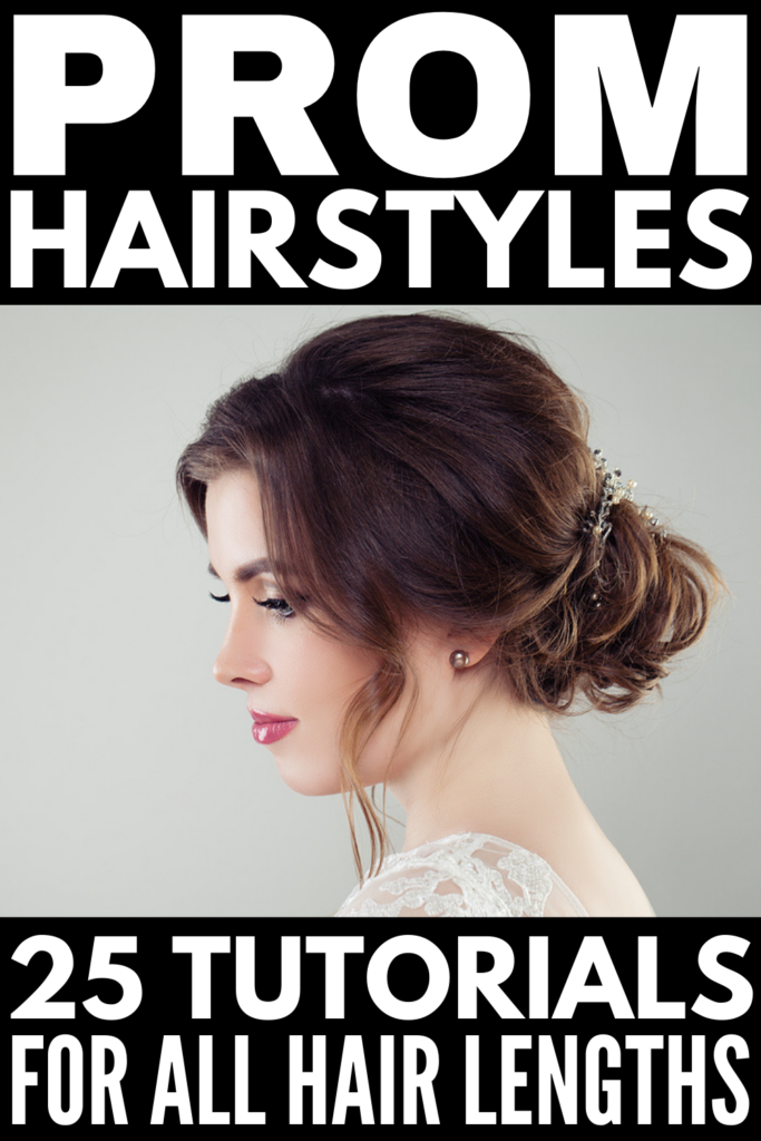 25 Step-By-Step Prom Hairstyles For All Hair Lengths | If you're looking for prom hair tutorials, this post is for you! We've curated tons of options for short, medium, and long hair, with full videos to teach you how to recreate these styles from the comfort of home. Whether you want to wear your hair all down, prefer a simple half up half down look, want easy waves, or prefer an upgrade ponytail or chic undo, we've got something for everyone! Elevate your look with these DIY hairstyle!