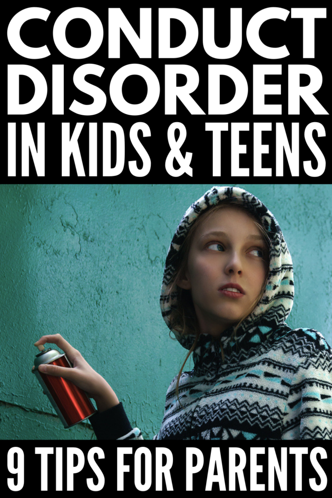 9 Conduct Disorder Tips and Strategies for Parents | Parenting, caring for, and teaching a child with conduct disorder can be very overwhelming, especially if the child has other conditions like autism, ADHD, or mood disorders. This post provides insight on warning signs and symptoms, plus treatment options and behavioural management strategies to help kids with conduct disorder at home and in the classroom.