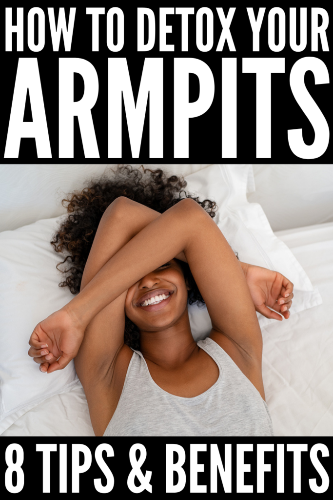 How to Detox Your Armpits | If you want to know how to do an armpit detox - and why you should do one - this post is for you! Switching to natural deodorant is a process, but there are so many health benefits, from detoxing your body to reducing odor and more. Applying an armpit mask is a great way to start as it helps neutralize odor and reduce skin irritation. We're sharing our favorite DIY homemade bentonite clay armpit mask as well as tips to help lighten dark armpit skin!