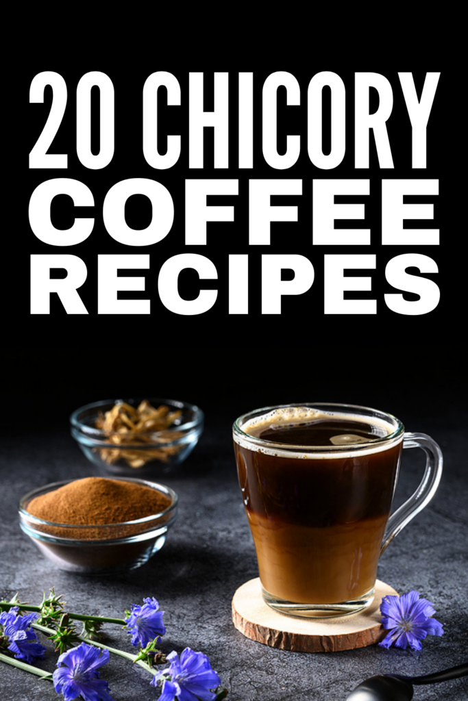 20 Chicory Coffee Recipes | Trying to cut back on your caffeine intake but still need a boost? These chicory coffee recipe ideas are for you! Chicory root offers so many health benefits. It's good for gut health, boosts immunity, offers natural constipation relief, and can help with weight loss to boot. From an easy chicory vanilla latte, to bulletproof chicory coffee, to dandelion and chicory chai, to spiked iced chicory, to cold brew chicory coffee, these drinks will kickstart your day!