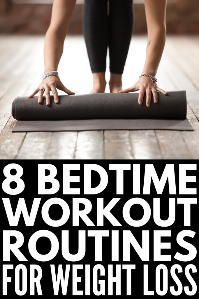 8 Bedtime Workout Routines For Weight Loss and Sleep | Can't find time to exercise during the day? Want a quick and easy routine you can do before bed to help you tighten and tone your body without compromising your sleep? Perfect for beginners and beyond, these evening workout routines are the perfect pre-bed at home exercises to help you meet your weight loss goals when you're pressed for time. If you want a flat stomach, toned legs, and strong core, take the challenge!