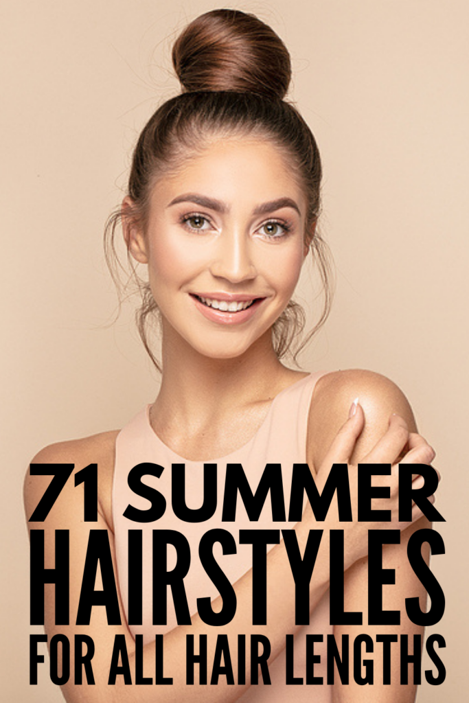 71 Summer Hairstyles For All Hair Lengths | If you like your hair to be out of your face when the weather is hot and humid, this collection of easy step-by-step hairstyles is for you! Whether you have short, medium length, or long hair, we've curated the best videos to teach you how to put your hair up in mere minutes! From casual half up half down looks, to messy buns, to ponytail upgrades, to boho braids and more, these hairstyles are equal parts easy and stylish!