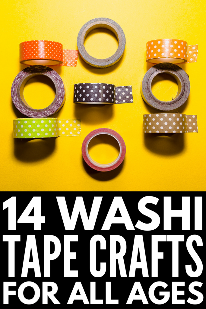 14 Washi Tape Crafts for Kids | If you're looking for simple and easy DIY projects you can do with your kids after school and on weekends, these washi tape ideas will NOT disappoint! We've included tons of fun crafts for boys and girls, including personalized back to school supplies and notebooks, wall decoration inspiration and room decor ideas, art journals and scrapbooks, and tons of art projects that make great Christmas gifts and keepsakes for family and friends!