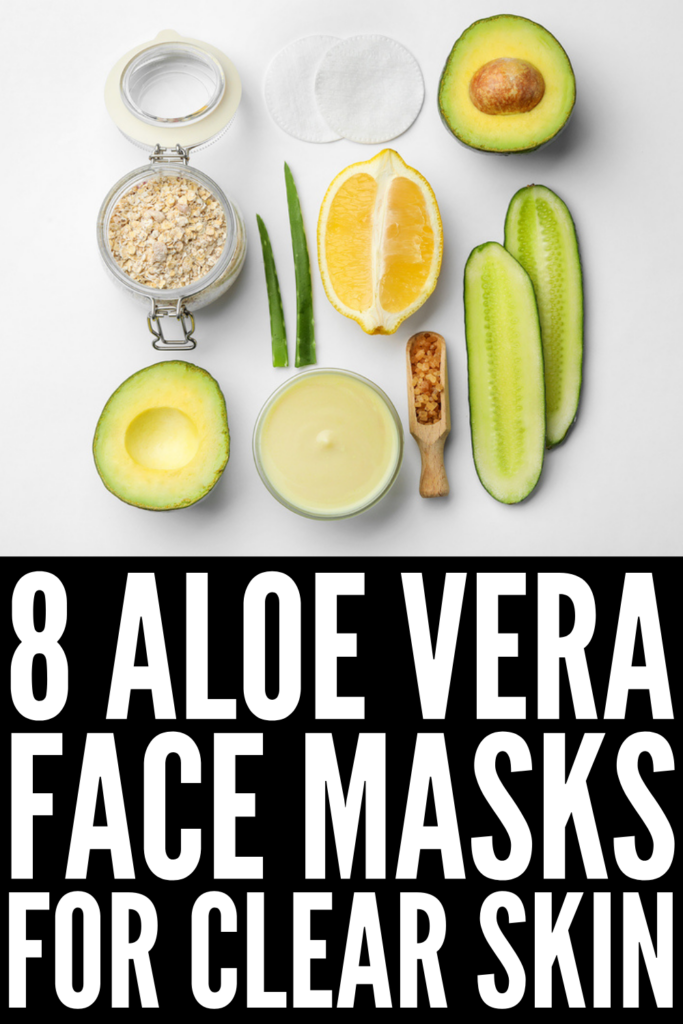 8 Aloe Vera Face Masks For a Clear Complexion | Aloe vera contains antioxidants and vitamins A and C, and it's highly anti-inflammatory, making it a great natural remedy for sunburns, acne, skin irritation and inflammation, and it's great for wrinkles and can help you look younger as it slows signs of ageing. Whether you want to know how to make DIY aloe vera face masks or prefer store bought products, this post has easy recipes and recommendations to help!