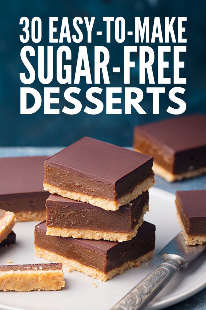 30 Quick Sugar Free Desserts | Whether you're looking for sugarless treats for diabetics, or you've cut refined sugar out of your diet for other reasons, this post will not disappoint. We've curated the best healthy sugar free desserts that are sure to satisfy your sweet tooth. From no bake cheesecake, to vegan coconut cookies, to low carb sticky toffee pudding, to keto peanut butter cups, many of these recipes are naturally low calorie with lots of gluten free and dairy free options!
