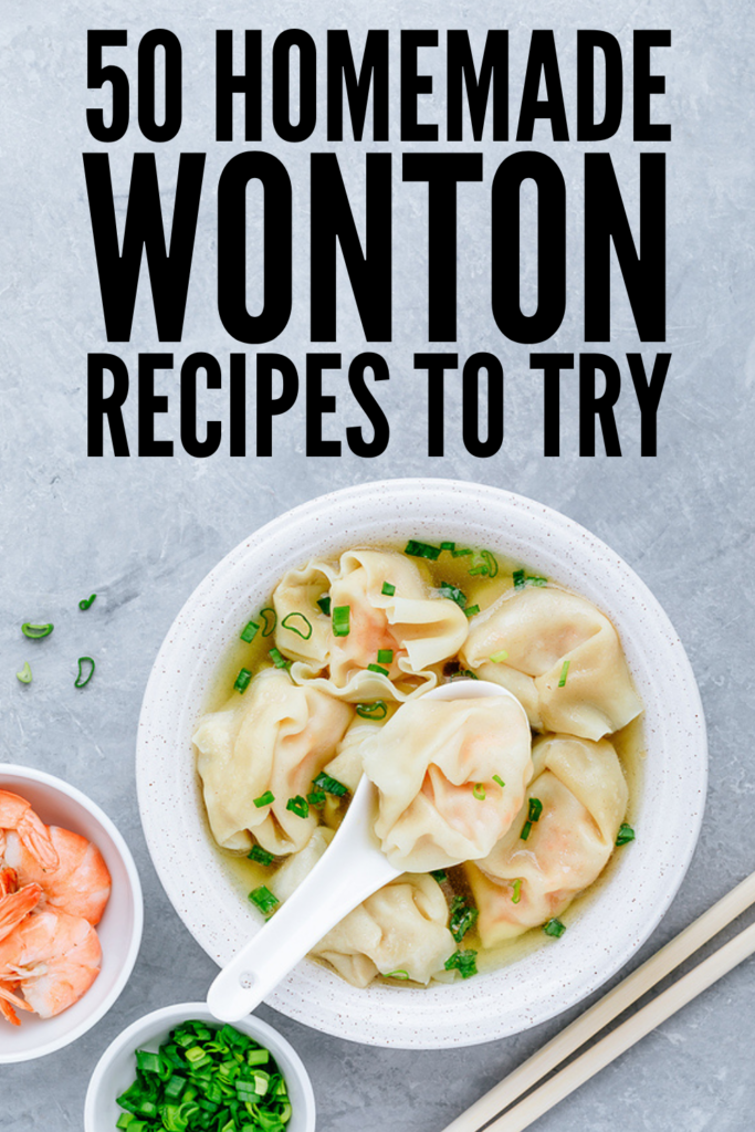 50 Easy Homemade Wonton Recipes | Want to know how to make wontons? I's surprisingly easy! This post has everything you need to get started - wonton making essentials, tips and hacks, and links to some of the easiest and most delicious wonton recipes we've ever tried. From pork, to shrimp, to chicken, to crab, to vegan wonton recipes, you can cook these in so many ways. Whether you prefer your wontons deep fried, or prefer to steam, boil, or cook them in an air fryer, this post has it all!
