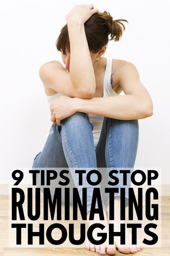 How to Stop Ruminating Thoughts | If you're looking for tips and coping strategies to help you stop obsessive thoughts from controlling your mind, we're sharing 9 simple ideas you can start using today to help you relieve stress and anxiety and feel more in control. If you lay awake at night ruminating and worrying about things that have gone wrong in the past, with friends, in a relationship, or even at work, we're sharing our best psychology facts and hacks to help you get unstuck.