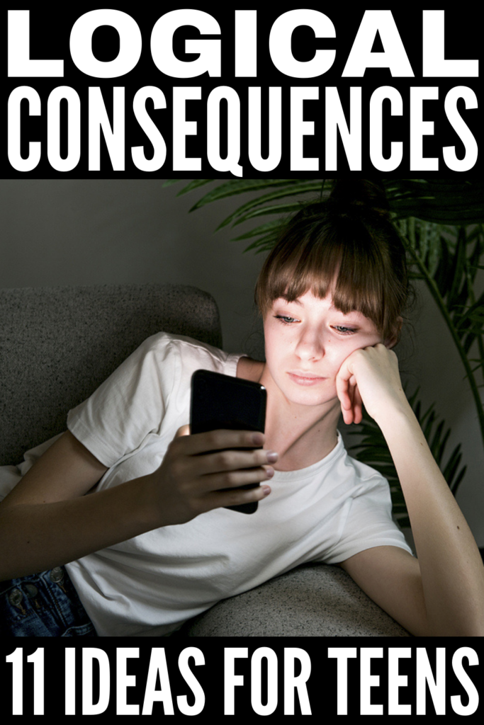 11 Logical Consequences for Teens | If you're looking for creative and effective ways to discipline teenage boys and girls that don't involve power struggles, grounding, or yelling, this post is for you! It touches on the basics - creating family rules and using consequences over punishment - with lots of good ideas on how to create logical consequences to match the behavior you're trying to change. Whether your teen is disrespectful, prone to lying, forgetful, or lazy, these really work!
