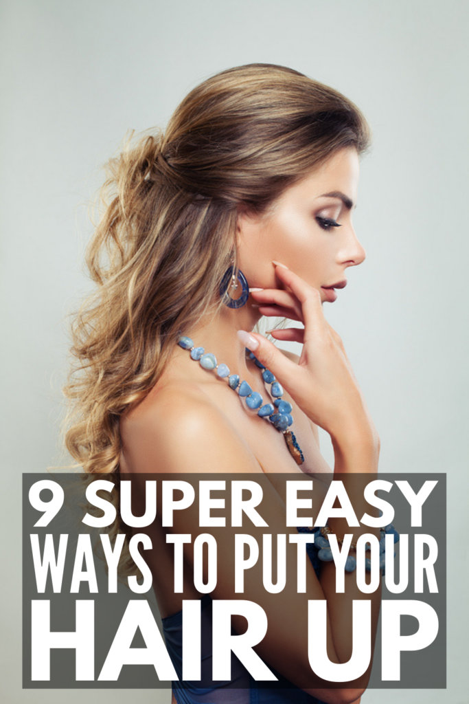 9 Easy Ways to Put Your Hair Up   Don't know how to put your hair up? Need cute ways to style your hair when you're running late? Searching for hairstyles to hide the fact that you haven't washed your hair in 3 days? We've got you covered! Whether you have short hair, medium hair, or long hair, we've curated the best step by step hair tutorials to teach you how to put your hair up fast! From ponytails, to jaw clip hairstyles, to braided hairstyles and more, these updos are easy and classy!