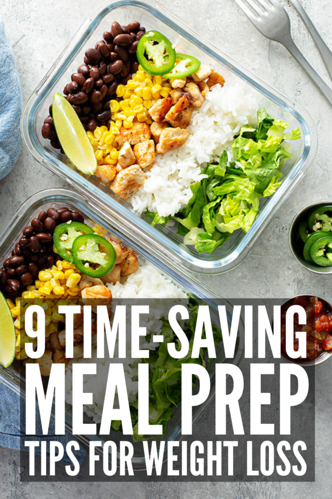 9 Lazy Meal Prep Tips for Weight Loss | If clean eating is your goal, meal planning and prepping is a must. The key to any healthy lifestyle change is to keep it easy and simple, and we're sharing our best tips and hacks to help! Whether you're specifically tackling one meal (breakfast, lunch, dinner, or snacks), or want to completely overhaul the way you plan your weekly grocery list based on the recipes you plan on making, this post has it all!