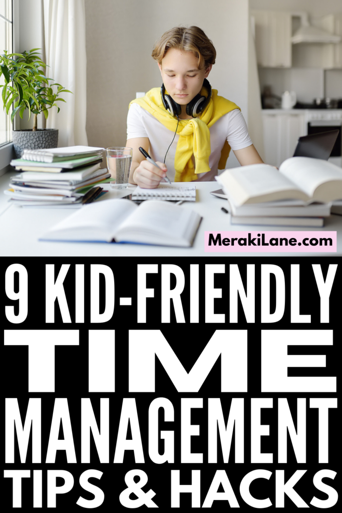 How to Teach Time Management to Kids | If your child struggles with planning, organizing, and staying on task, this post has lots of great tips and ideas to help you teach time management skills. Whether you're trying to create high level daily schedules to teach your kids independence, or you specifically need to create a homework routine so your evenings run more smoothly, these tips will improve your child's executive functioning skills so they can manage their time better!