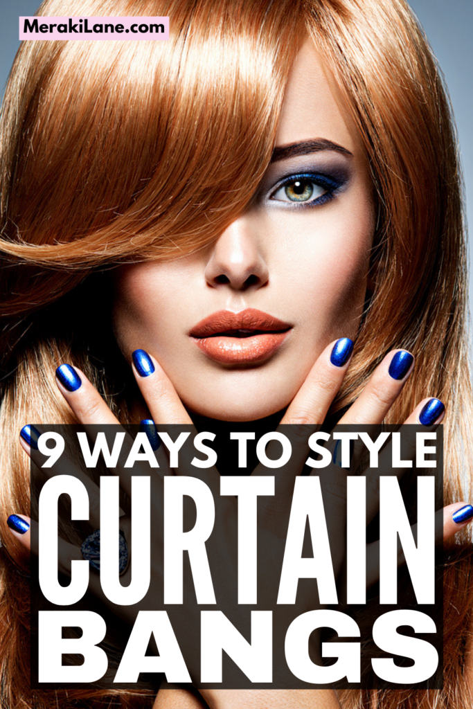 How to Style Curtain Bangs | Whether you have short hair, medium hair, or long hair, curtain bangs are an easy and trendy way to add a little pop of style to your everyday look. We've curated 9 step-by-step tutorials to teach you how to create beautiful, soft curtain bangs for both straight hair and curly hair in minutes! Curtain bangs look so chic with a bob, shoulder length hair with layers, and long layers, and these tutorials will teach you the best styling tips and hacks!