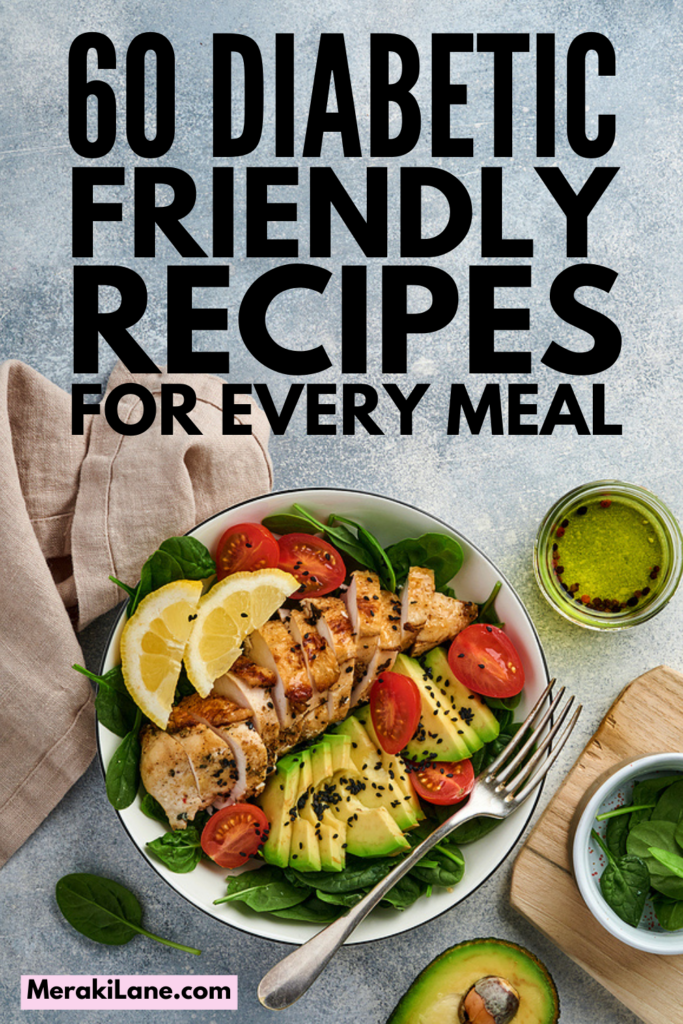 60 Easy and Healthy Diabetic Recipes | If you're trying to create your very own diabetic diet plan, we've curated tons of recipes to choose from, including diabetic breakfast and lunch ideas, diabetic recipes for dinner, diabetic snacks, and - our favorite! - diabetic desserts that will hit your sweet spot while keeping your blood sugar stable. Whether you have Type 1, Type 2, or gestational diabetes, these recipes will help you create a diabetic meal plan you'll love!