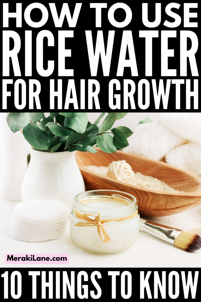 How to Use Rice Water for Hair Growth | If you've seen the rice water trend on TikTok and want to know more, this post is for you! We're sharing everything you need to know - how to make rice water, how to use rice water, how to apply rice water, the benefits and risks, as well as the answer to your most pressing question: does rice water for hair growth work?! Learn our best DIY tips and tricks for best results to promote hair growth without damaging your hair!