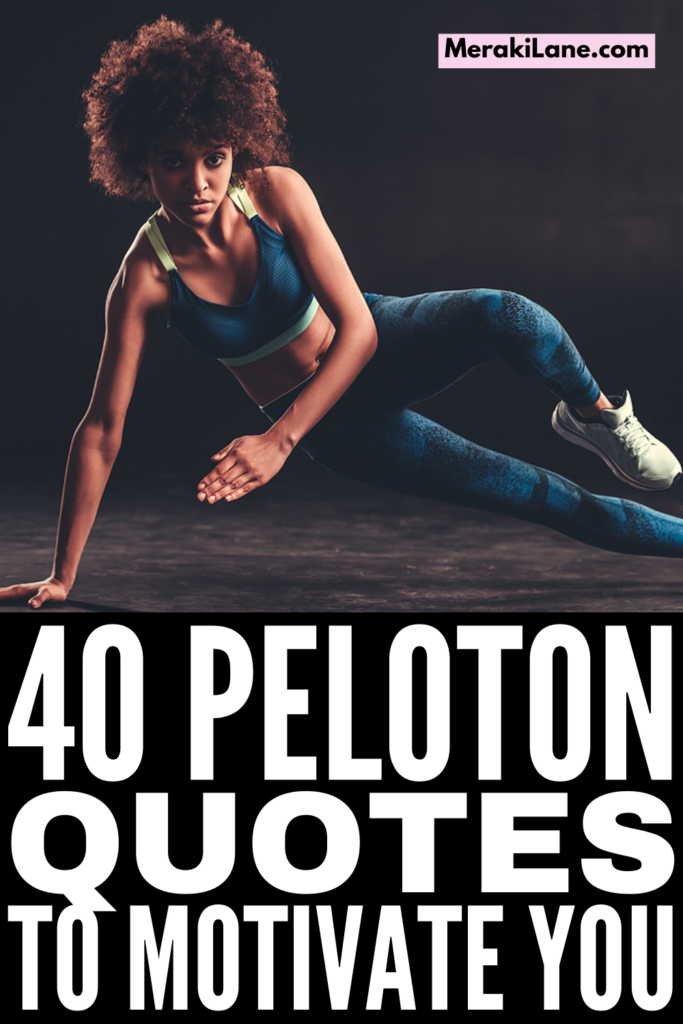 40 Peloton Quotes to Motivate and Inspire You | Whether you own a Peloton bike or treadmill, or workout via the app, it's an all-in-one option for at home workouts. From indoor cycling and treadmill workouts, to strength training and core workouts, to yoga, pilates, barre, and stretching, there are tons of options, and we've compiled our favorite Peloton instructor quotes from Jess Sims, Cody Rigsby, Alex Toussaint, Robin Arzon, Ally Love, Kendall Toole, and more!