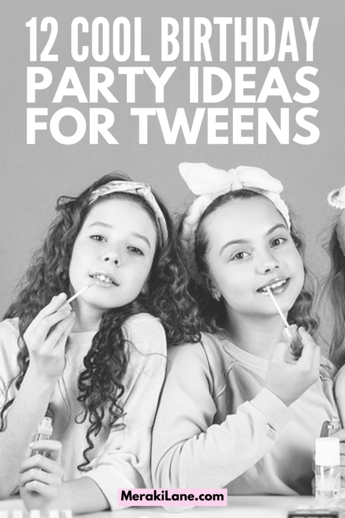 12 Birthday Party Ideas for Tweens   If you're looking for fun yet cool birthday party ideas for your tween girl or boy, this post has tons of inspiration! Whether you're hosting an at home party in spring, summer, fall, or winter, there are lots of themes you can pick from, and having awesome food and age-appropriate games and activities everyone can enjoy inside and outside will help keep everyone entertained and happy - especially if they are at your house for a sleepover!