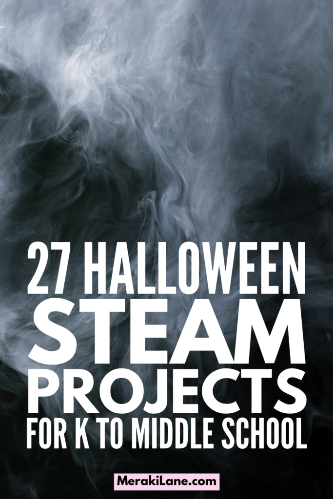 27 Halloween STEAM Projects For Kids | Science, technology, engineering, the arts, and math, oh my! If you have children and/or students in preschool, kindergarten, elementary school, and/or middle school and you're looking for Halloween activities with an educational twist, this post is for you! We've curated tons of fun and easy to set-up STEAM projects for all ages to get your little ones in the holiday spirit. Use these to create Halloween lesson plans, or at home on bad weather days!