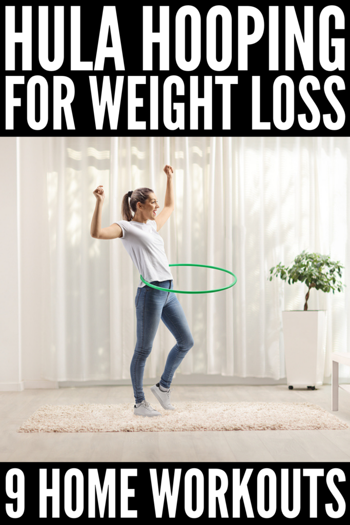 9 Hula Hoop Workouts for Weight Loss | Perfect for beginners and beyond, these weighted hula hoop workouts and challenges are a fun way to add in some cardio to burn calories while also getting in a good core workout. Adding hula hoop exercises into your fitness regime also provides fat-burning benefits, and many of these workouts will also tighten and tone your body. This post discusses all of the benefits of hula hoop workouts, and you can stream the workout videos for free!