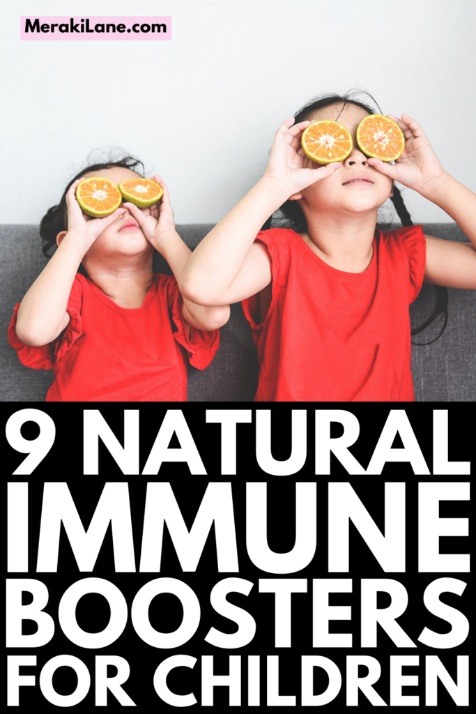 9 Immune Boosting Tips for Kids   If you're looking for natural immune boosters for kids, this post has lots of great ideas to help. While many moms use vitamins and essential oils, we're focusing on lifestyle changes and the best all natural food options to add to your grocery list so you can create healthy meals and immune boosting smoothie, juice, tea, and soup recipes your toddler, child, tween, and/or teen will love!