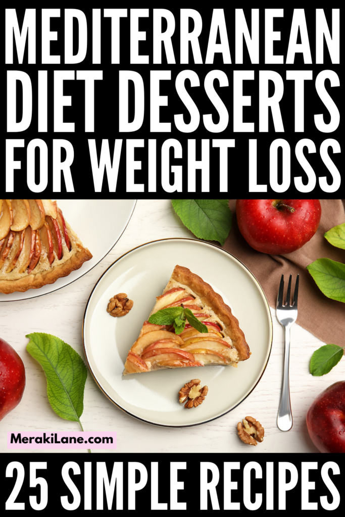 25 Heart Healthy Mediterranean Diet Desserts | If you're looking for simple, easy, and tasty desserts you can enjoy as part of your healthy eating regime, this post has tons of ideas to inspire you! The Mediterranean diet offers so many health benefits, and while it doesn't promote the consumption of sweets on the daily, these recipes and food swaps offer a simple way for you to enjoy treats without sabotaging your weight loss efforts. These are naturally low carb and many are gluten free!