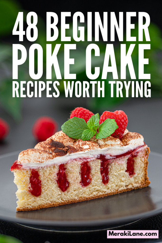 48 Poke Cake Recipes that Wow! | If you want to know how to make poke cake, this post is for you! Classic poke cake uses Jello insets for colourful appeal, but today bakers are filling poke cakes with pastry creams, condensed milk, mousse, pudding, caramel, chocolate sauce, and more. We've curated the best recipes, from basics like vanilla, strawberry, and chocolate, to modern faves like Oreo, peanut butter, red velvet, Boston cream, pineapple, and banana pudding.
