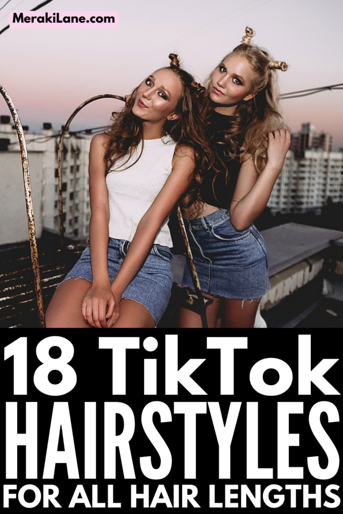 18 Super Easy TikTok Hairstyles for All Hair Lengths | Whether you have short, medium length, or long hair, this collection of trending TikTok videos will teach you easy ways to style it on even your busiest mornings. These popular step-by-step hairstyle tutorials work for straight, wavy, and curly hair, and include a mix of half up half down styles, braided hairstyles, and updo looks you can recreate in mere minutes. From messy buns to ponytail upgrades, these looks are so stylish!