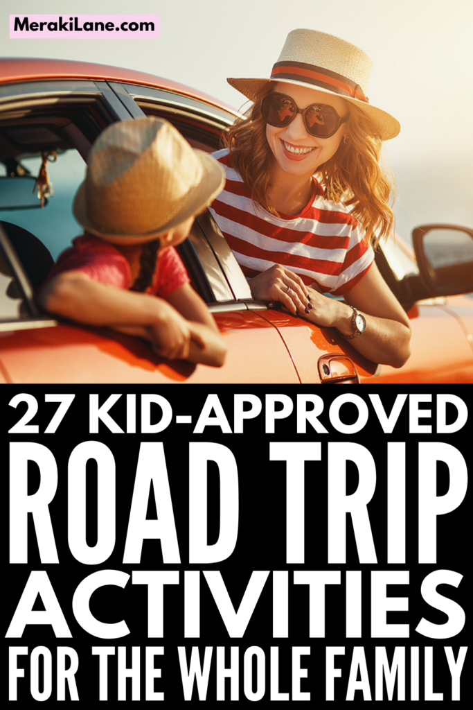 27 Road Trip Activities for Kids | Long car rides can be difficult at the best of times and when you add kids into the mix, it can be downright miserable if you don't have fun games and activities to keep them entertained. The iPad only goes so far, am I right?! Whether you're in a car or an RV, these car ride activities for kids are simple, easy, fun, and compact. We've included a mix of family friendly options you can enjoy together and independent travel activities for kids to keep you sane!