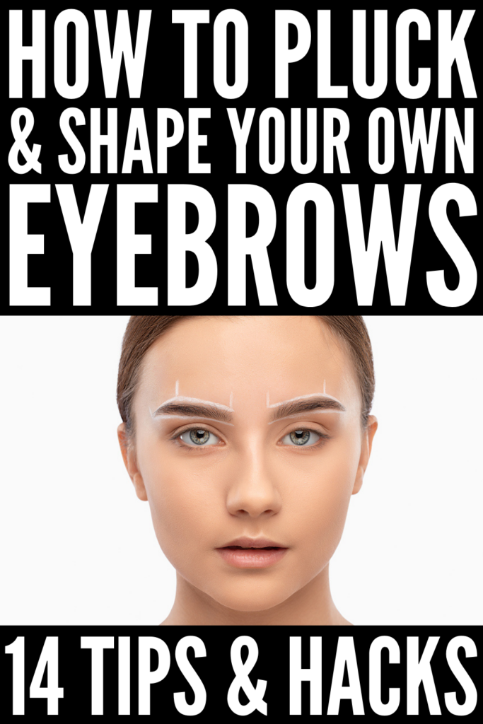 How to Pluck Your Eyebrows Properly | If you're a beginner to plucking your own eyebrows, look no further! This post has everything you need - the best eyebrow products and where to buy them, eyebrow shaping tips for beginners, the best way to pluck your eyebrows to avoid over-plucking, irritation, etc., and our favorite videos and step by step tutorials that are full of the best DIY eyebrow plucking tips and hacks for perfectly groomed brows that wow!