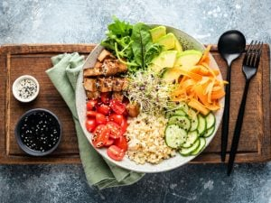 30 Plant Based Salads That Are Actually Filling | If you following a plant-based diet - or want to get started - and you're looking for healthy packable lunches complete with veggies and whole foods that are also FILLING, this post is for you! Click for 30 of our favorite meatless salads that are low carb, simple to make, high in plant based protein, and hearty enough to be considered a main dish for dinner! #plantbased #plantbaseddiet #plantbasedrecipes #plantbasedsalads