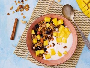 48 Filling Yogurt Bowls to Kickstart Your Morning | If you're looking for healthy breakfast recipes that will keep you feeling full until lunch and support your weight loss goals, this collection of yogurt bowl recipe ideas is a great place to start! From low carb, keto, and low calorie breakfasts, to vegetarian and vegan recipes, to Greek yogurt options, to granola yogurt bowls we love, this post has the perfect balance of sweet and savory options that are high in protein and delicious!