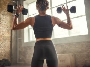 7 Shoulder and Back Workouts for Women | Whether you're training at home with no equipment, or lifting weights at the gym, working your shoulders and back helps increase range of motion, prevent injury, improve posture, and enhance strength and performance. And sculpted shoulders are sexy, too! If you're looking for shoulder workouts and/or back workouts for women to tighten, tone, and get rid of back fat, grab your dumbbells and give these a try! We've included no equipment options too!
