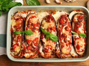 48 Eggplant Recipes Worth Trying | If you're looking for healthy eggplant recipes, you're in for a treat! Eggplant offers so many health benefits, and if you want to know how to cook eggplant, this post has it all. We've curated the best recipes for you to try, from easy, to healthy, to vegan, to low carb, to keto and more! Whether you like your eggplant roasted, stuffed, baked, grilled, fried, or cooked in the air fryer, there's a recipe here for you!