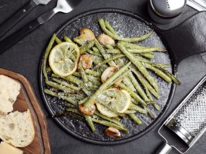 36 Green Bean Recipes for Every Occasion | There are so many delicious recipes you can make with fresh green beans, and they are so simple and easy to make. You can steam or boil them, cook them in the oven, throw them in the air fryer or crockpot, and they taste amazing sautéed. From healthy side dishes, to make ahead green bean casserole recipes, to an amazing green beans with bacon recipe you can make in the crockpot, these side dishes and meals will not disappoint!