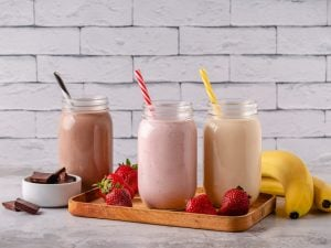 21 Healthy Milkshake Recipes for Weight Loss   If you're on the hunt for a thick and creamy milkshake that will satisfy your sweet tooth without derailing your clean eating goals, this post has tons of ideas to inspire you. From chocolate, to peanut butter, to fruity favorites like strawberry, banana, cherry, and mango, we've included tons of easy recipes that won't ruin your diet. This post includes low calorie and low carb keto recipes, as well as no banana and vegan options!