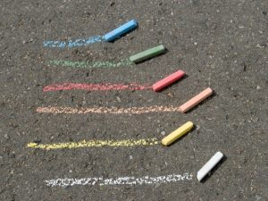 16 Sidewalk Chalk Art Activities | If you're looking for simple ways to keep your kids entertained outside, sidewalk chalk is where it's at! From decorating driveways, to creating sidewalk birthday messages, to making mosaic designs on a fence, we've curated cute and easy ideas for toddlers, creative drawings for kids, and cool ideas for teens! Perfect for spring, summer, and fall, these sidewalk chalk art projects are the perfect way to add a little positive energy to your home!